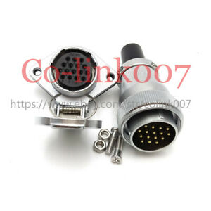 Ws28 16pin Connector 10a High voltage Bulkhead Industrial Electric Plug Socket