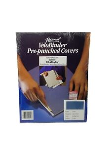 Personal Velobinder Presentation Covers 25 Sets Pre punched Medium Blue 2 0
