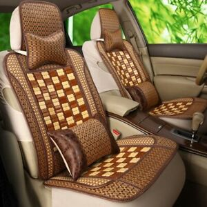 Universal Car Seat Cover Summer Bamboo Cushion Breathable Protector Auto Truck