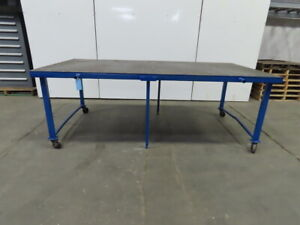 1 2 Thick Top Steel Fabrication Welding Table Work Bench 96 1 2 X 48 x 34 1 4
