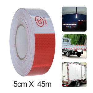 2 x150 Dot c2 Premium Reflective Red And White Conspicuity Tape Trailer Usa
