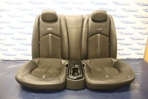 2011 Cadillac Cts v Coupe 6 2l Lt4 Oem Leather suede Rear Seats wear 1267