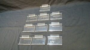 Clear Acrylic Slat Wall Shelves 3 X 5 Inch Retail Store Shop Display Lot Of 10