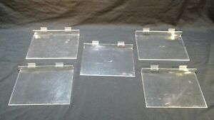 Acrylic Slatwall Shelf 8 X 11 3 4 Inches Flat Retail Store Display Lot Of 5