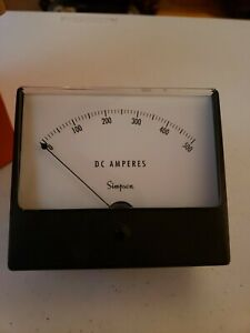 Simpson Panel Meter 0 500amps With Box Model 1329 No Nuts For Back Screws