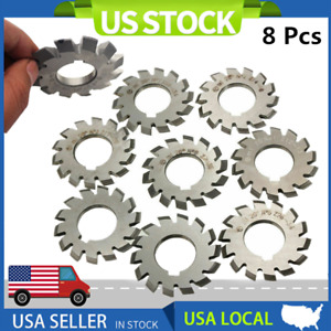 8 Pcs Module M1 Inner Bore 20 22mm 1 8 Hss Involute Gear Cutters Disk Shaped
