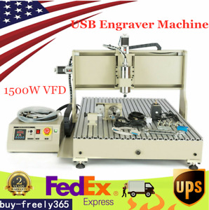 4 Axis 8050 Cnc Router Desktop Usb Engraver Milling Woodworking Machine 1500w