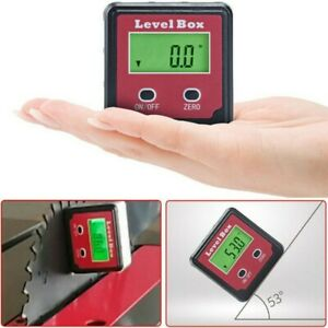 Digital Lcd Level Box Protractor Gauge Angle Finder Inclinometer Display 2 key