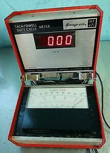 Snap On Tach Dwell Duty Cycle Meter Vintage Tools Mt471