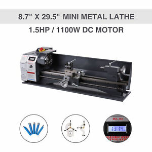Upgraded 1 5hp 1100w Dc 8 7 29 5 Mini Metal Lathe Bench Top Milling 5 Tools
