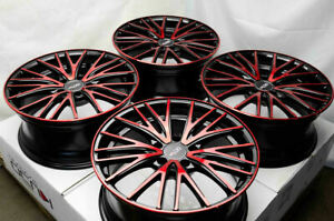18 Black Red Wheels Rims Fit Hyundai Sonata Infiniti Lexus Is250 Nissan Altima