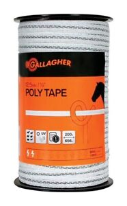 Gallagher G62304 White green Poly Tape 656 Ft For Portable Electric Fences