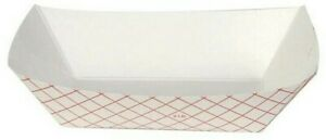 2 Lb Heavy Duty Capacity Polycoated Paper Food Trays Free Same Day Shipping