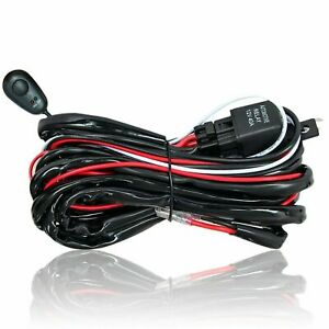 Led Wiring Harness Kit 12v On off Rock Switch Offroad Relay Led Work Light Bar
