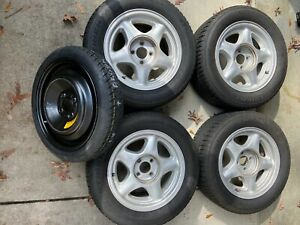 Set Of 87 93 Ford Mustang Lx gt Oem 16 Wheels Tires Spare Tire
