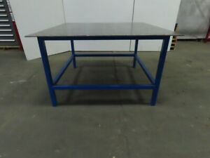 3 8 Thick Top Steel Fabrication Welding Table Work Bench 60 3 4x60 3 4x36 1 2