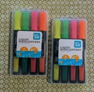 2 Packages Pen Gear Chisel Tip Highlighters Assorted Colors New