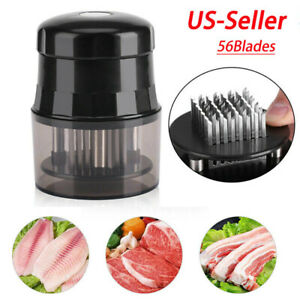 Professional Needle Meat Tenderizer 56 Stainless Steel Blades Kitchen Tool Round