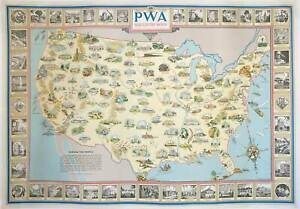 United States Wpa Pwa Rebuilds The Nation 1935
