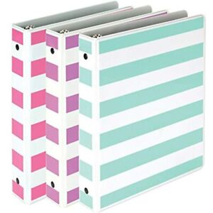 Samsill Fashion Mini 3 Ring Binders 1 Inch Fits 8 5 quot X 5 5 quot Paper And
