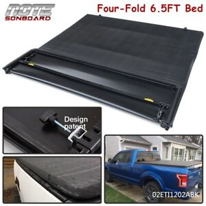 For 2004 2008 Ford F150 Waterproof Four Fold 6 5ft Truck Bed Soft Tonneau Cover