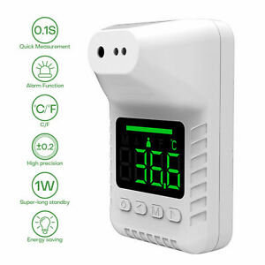Fast Wall Mount Digital Infrared Thermometer Automatic Non Contact Forehead Us