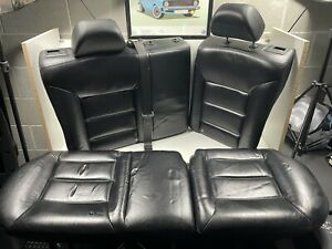 Vw Mk4 Golf Jetta Gli Gti R32 4dr Black Leather Rear Seats 99 05 W Headrests