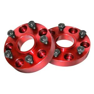 Alloy Usa 1 5 Red Wheel Spacer Pair 5 On 5 Bolt Pattern For 2007 2018 Jeep Jk