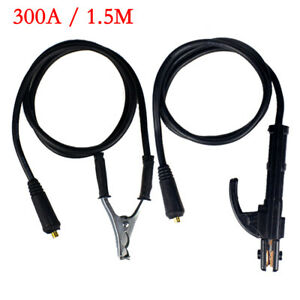 300amp Welding Earth Clamp Ground Stick Welder Cable For Mma Arc Igbt Machine Us