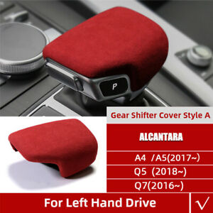 Real Alcantara Suede Gear Shift Panel Cover For Audi A4 S4 S5 Rs5 B9 A5 Q5 Q7