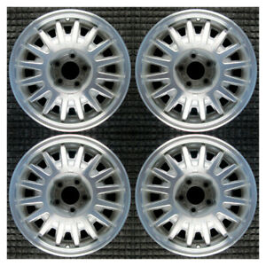 Set 1995 1996 1997 Lincoln Town Car Oem Factory F5vy1007a 16 Wheels Rims 3126