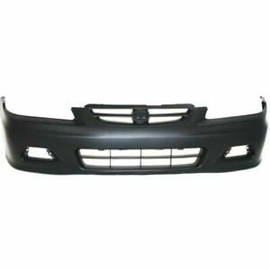 Front Bumper Cover For 2001 2002 Honda Accord Coupe W Fog Lamp Holes Primed