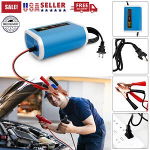 6000mah Car Battery Charger Maintainer Auto Trickle Rv For Truck Motorcycle Atv