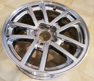 Damaged 2000 02 Chevrolet Camaro Ss Factory Oem Gm 10 Spoke Chrome 17 Wheel Rim