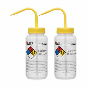 2pk Isopropanol Wash Bottle 500ml Wide Mouth Ldpe Eisco Labs