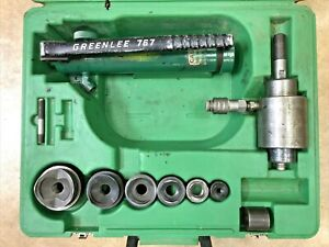 Greenlee Tool 1 2 2 Hydraulic Knockout 767 Pump 746 Punch Driver Set
