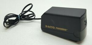 Powerhouse X acto Electric Pencil Sharpener Model 17xxx Black Heavy Duty