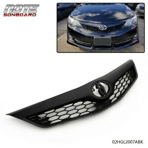For 2012 2013 2014 Toyota Camry Se Xse 4 Door Front Upper Grille Grill Black