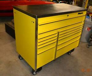 Snap On 2 Bank Ultra Yellow W Hd Stainless Steel Top Krl1022 Tool Box 54