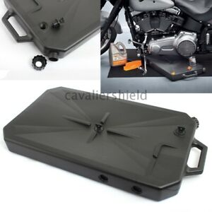 Abs Low Profile Oil Drain Pan W Spout Universal For Harley Electra Glide Flht