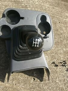 1998 2001 Dodge Ram Floor Console Cup Holder Boot Manual Shifter Oem Gray