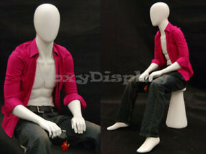Male Mannequin Dress Form Display Sitting Pose md kw15f