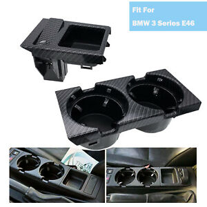 New Carbon Fiber Cup Holder For Bmw M3 E46 3 Series 1998 2005 51168217953