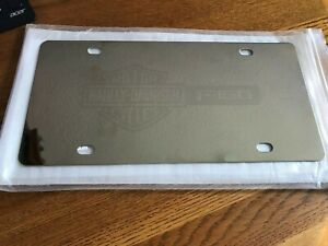 Stainless Steel Ford F150 Truck Harley Davidson Bar Shield License Plate