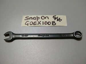 Snap On Goex100b 5 16 Combination Wrench 12 Pt 4 7 Long Black Industrial