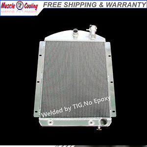 3 Rows Aluminum Radiator Fit 41 46 42 43 44 45 Chevy Pickup Truck Small Block V8