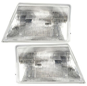 Headlights Front Lamps Pair Set For 98 00 Ford Ranger Pickup Left Right