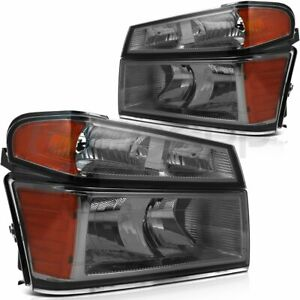 Fits 2004 2012 Chevy Colorado Front Headlights Assembly Left Right Sides Set
