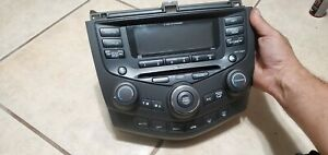 2003 2007 Honda Accord Radio 6cd Changer Climate Control Dual Zone Automatic Oem