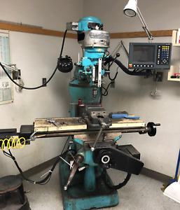 Bridgeport Vertical Milling Machine Millpwr 2 Axis Acu rite Cnc Tooling vise